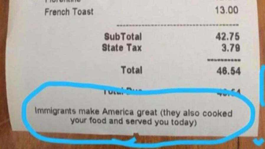 ¡Un restaurante en New York defiende a los inmigrantes!