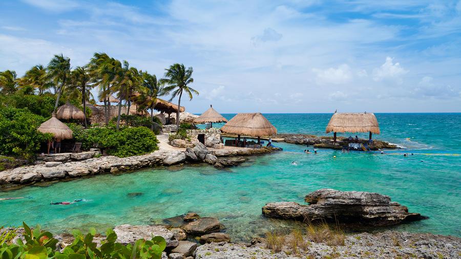 La zona turística de Riviera Maya, México.