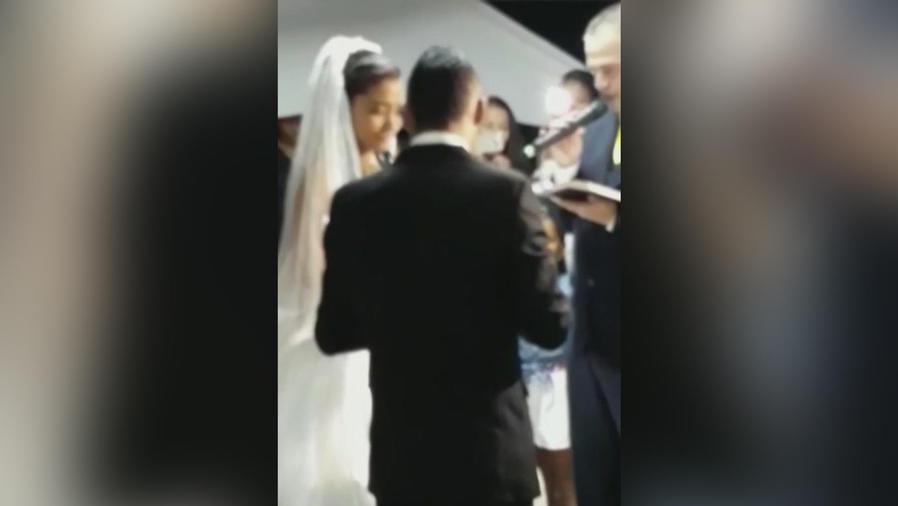 techo se desploma en boda