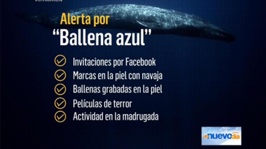 Peligros del juego de la ballena azul