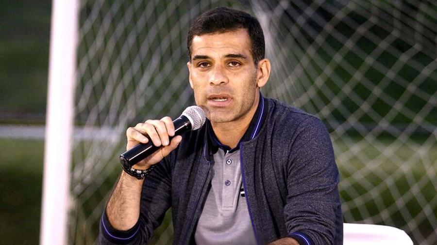 Rafael Márquez durante las declaraciones que dio en el campo del Atlas el 9 de agosto de 2017 tras ser vinculado por EEUU con un narco
