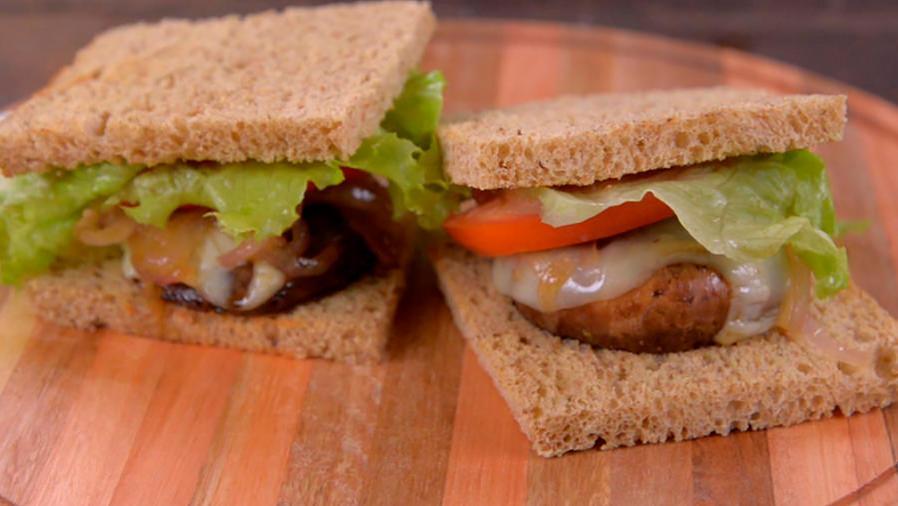 Receta de sándwich con un súper alimento: Portobello