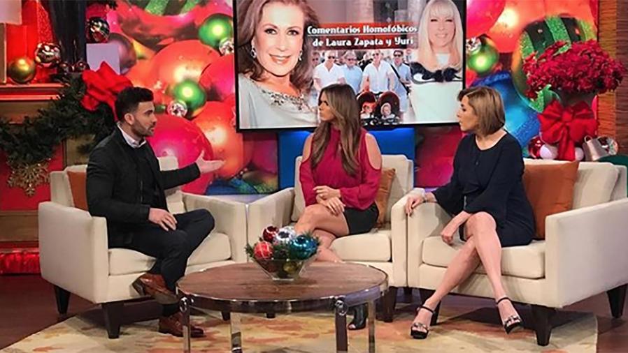 El actor y presentador Mauricio Mejía contestó dichos homofóbicos de Yuri y Laura Zapata