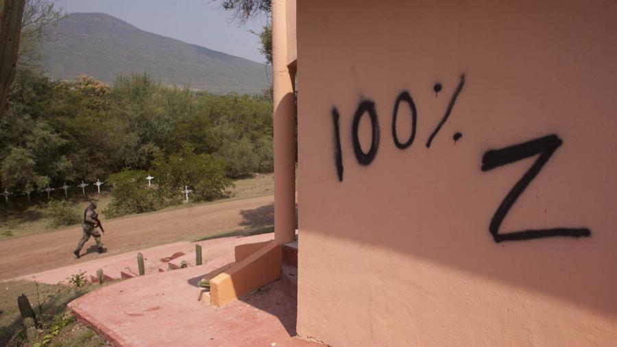 Una marca supuestamente de Los Zetas, en una imagen de archivo.