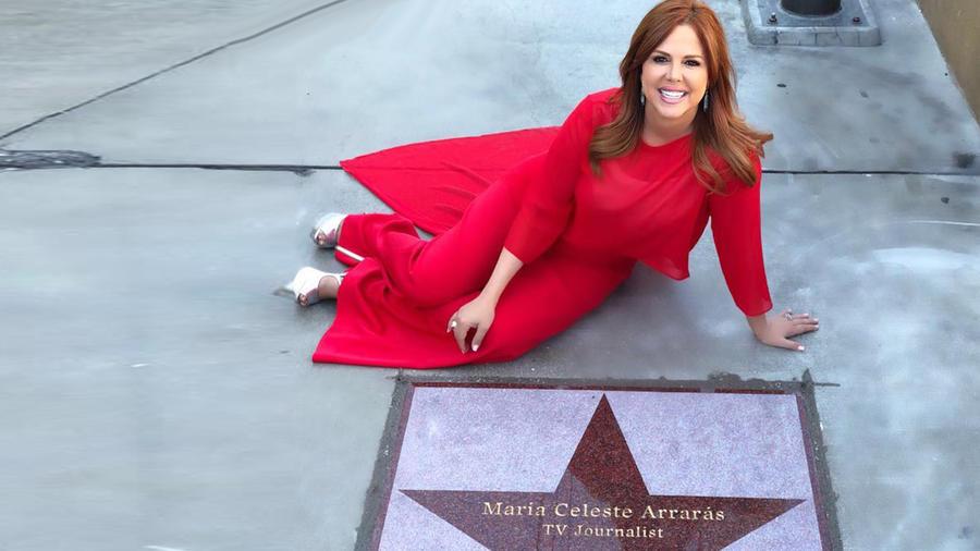 María Celeste Arrarás recibe estrella en Paseo de la Fama de Las Vegas