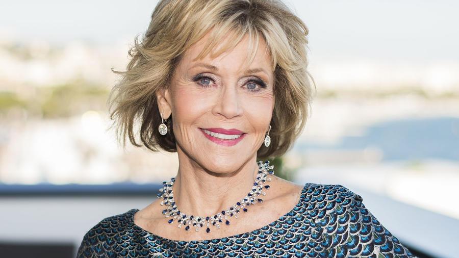 La actriz Jane Fonda en el festival de Cannes en Francia