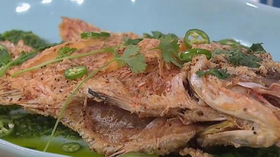 Pescado con salsa verde