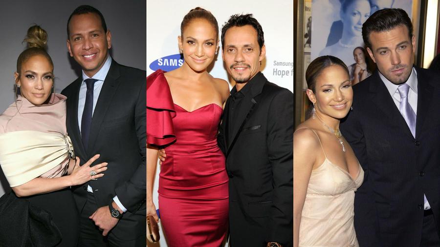 Jennifer Lopez y sus romances