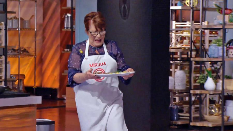Miriam sufrió en la prueba del Chef Benito