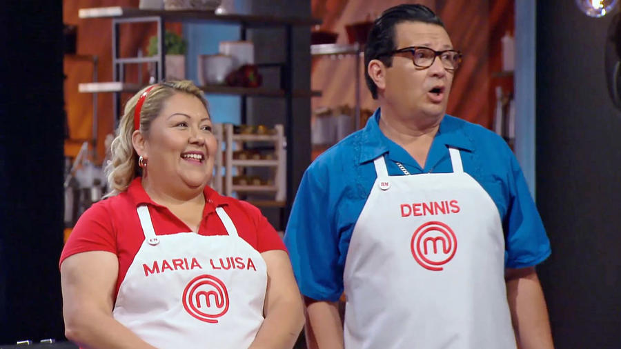 Dennis Escalante y María Luisa Balbuena en MasterChef Latino 2