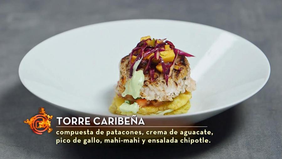 Torre Caribeña de Sara y Javier en MasterChef Latino 2