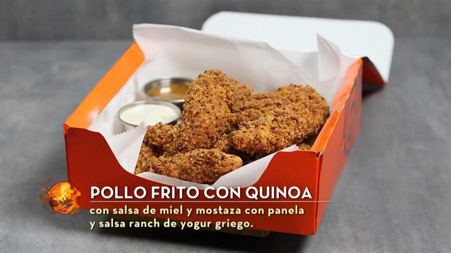 Lauren Arboleda cocina pollo frito con quinoa en MasterChef Latino 2
