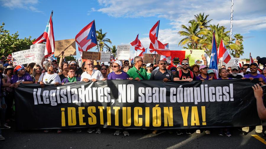 Protestas en Puerto Rico contra el gobernador Ricardo Rosselló