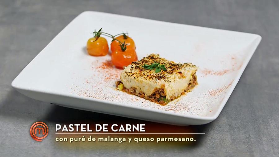 Pastel de carne de John Pardo en MasterChef Latino 2