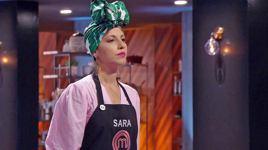 Sara Ordoñez en el reto de eliminación de MasterChef Latino 2