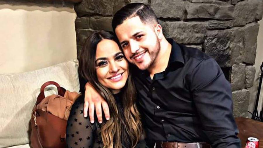 Jesús Mendoza junto a su novia, la ex de Lupillo Rivera, Mayeli Alonso