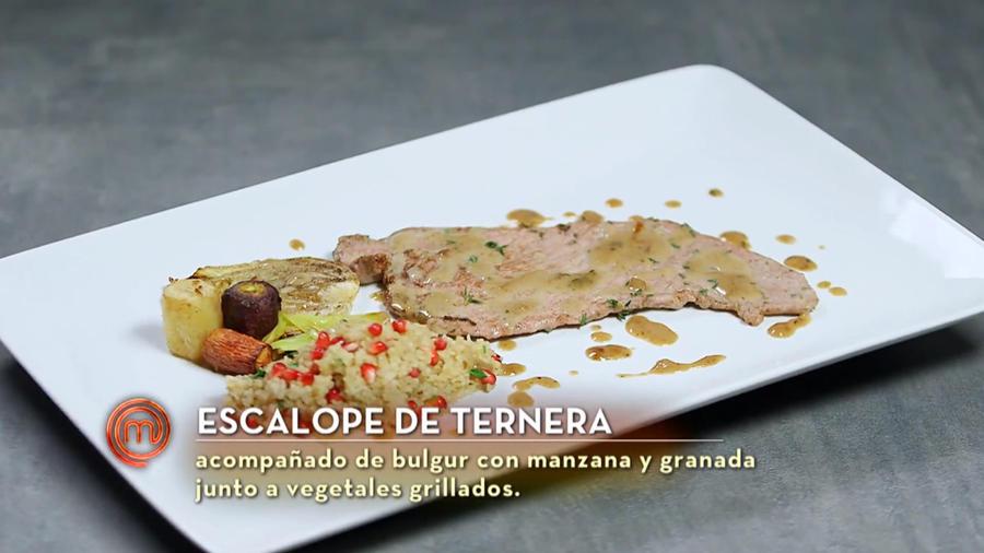 Dubraska cocinó escalope de ternera en la semifinal de MasterChef Latino 2