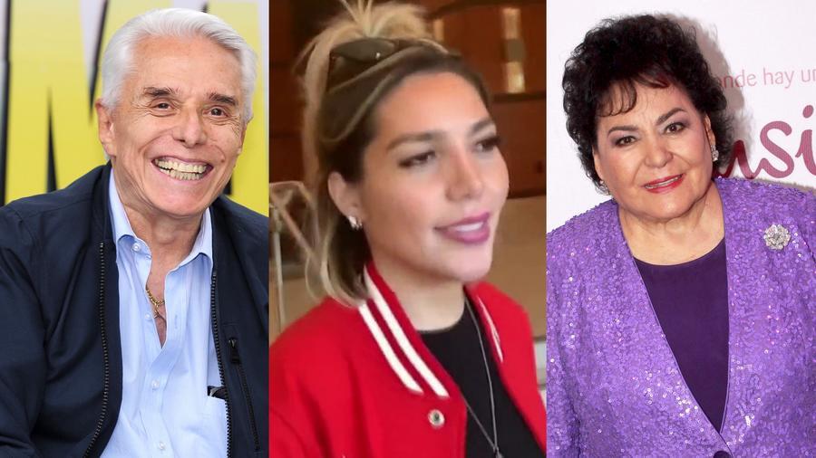 Enrique Guzmán, Frida Sofía y Carmen Salinas