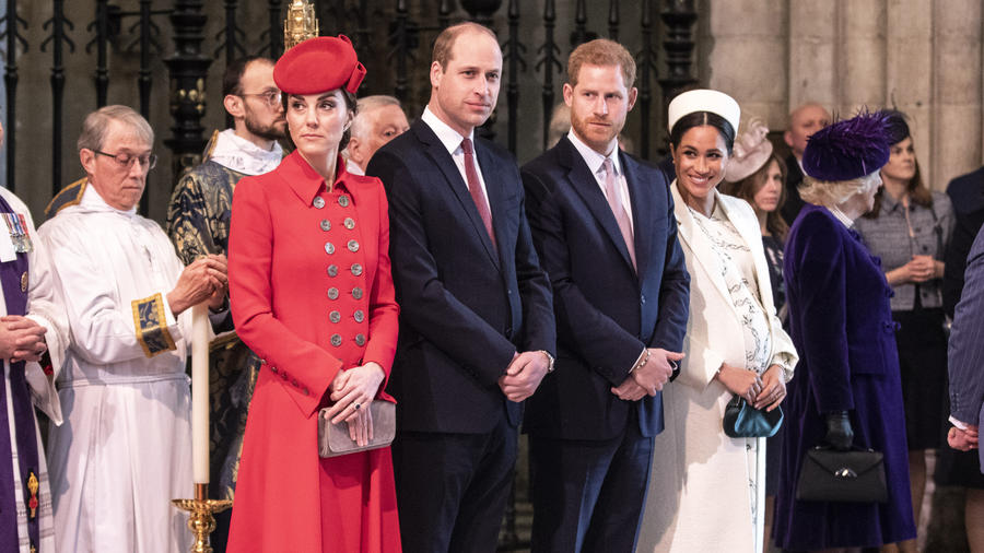 Meghan Markle, el príncipe Harry, el príncipe William y Kate Middleton