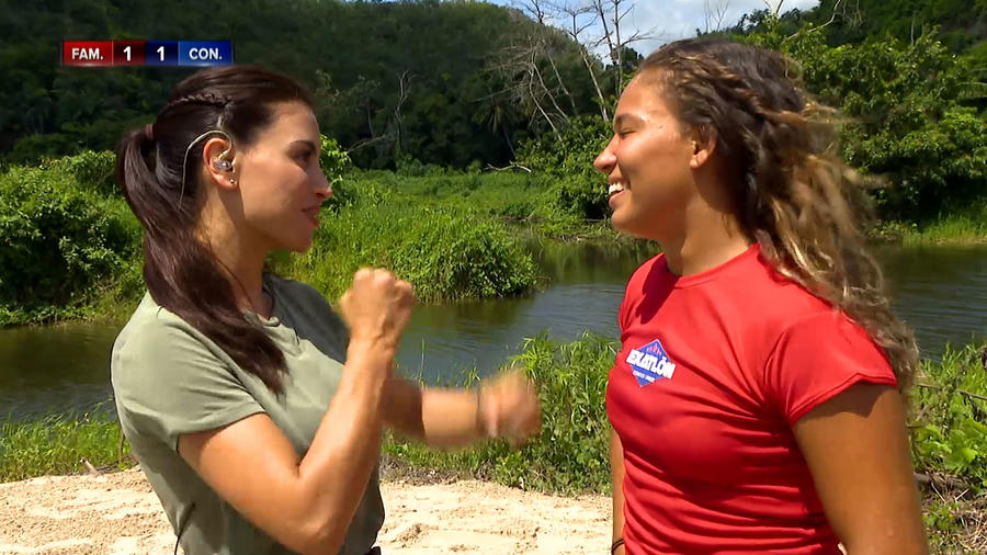 Jessica Cediel y Valerie bromean
