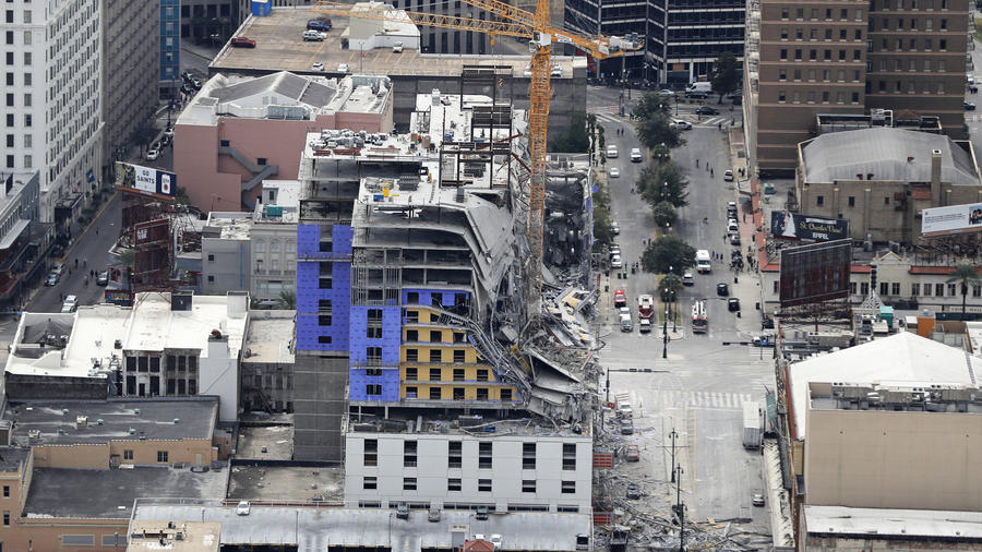 Latino graba los momentos de angustia tras derrumbe del hotel Hard Rock
