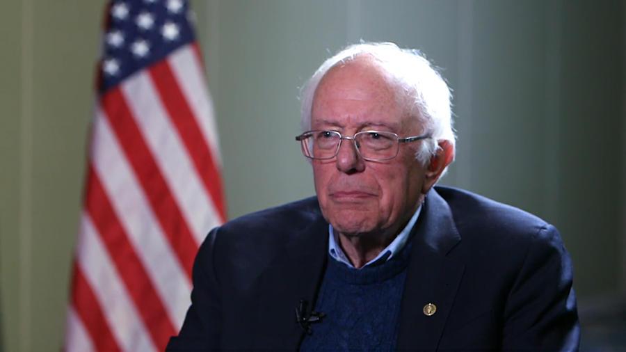 El precandido demócrata Bernie Sanders.