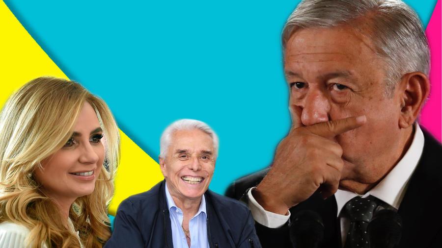 Angélica Rivera, Enrique Guzmán y AMLO