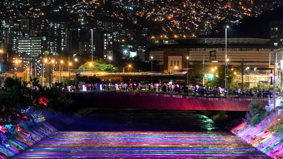 COLOMBIA-RELIGION-CHRISTMAS-ILLUMINATION
