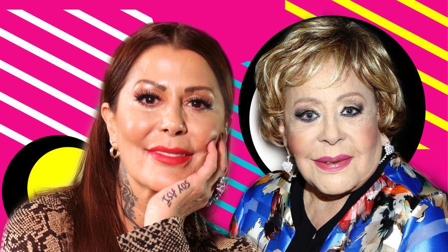 Alejandra Guzmán y Silvia Pinal