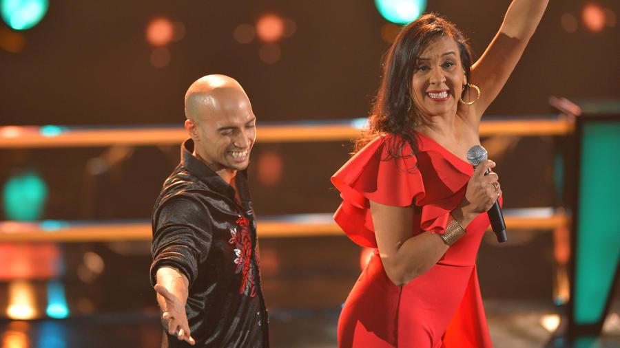 Eliana Sasics y Jose Palacio en las batallas de La Voz US 2