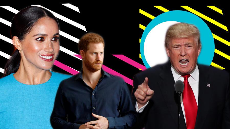 Meghan Markle, príncipe Harry Y Donald Trump
