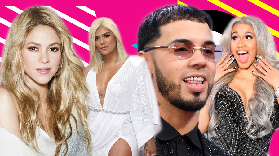 Shakira, Karol G, Anuel y Cardi B