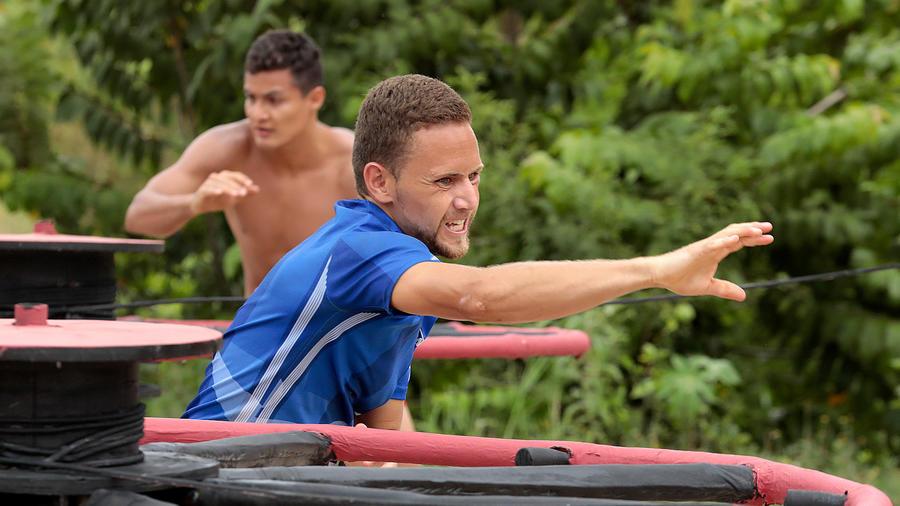 Emmanuel y Carlos en el circuito rojo