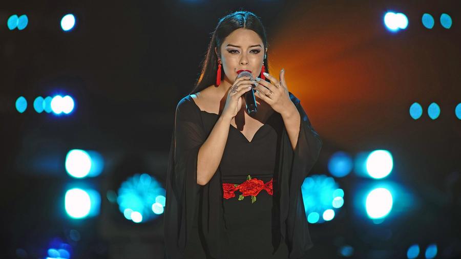 Diana Puentes en la semifinal de La Voz US 2