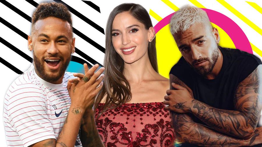 Neymar, Natalia Barulich y Maluma