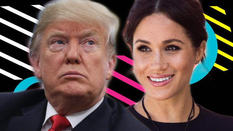 Donald Trump y Meghan Markle