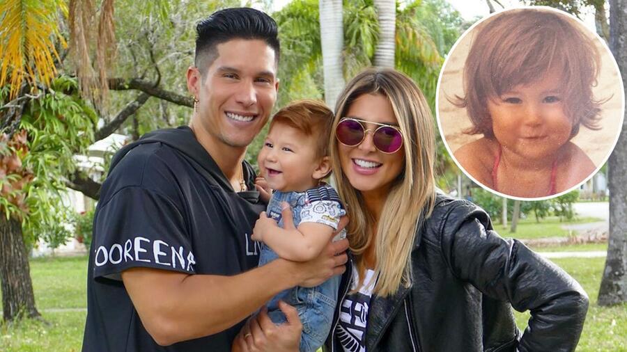 Chyno Miranda y Natasha Araos con su hijo Lucca