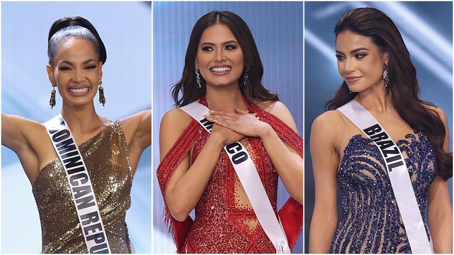 Miss República Dominicana, Miss México y MIss Brasil como finalistas de Miss Universo 2021, 69 edición
