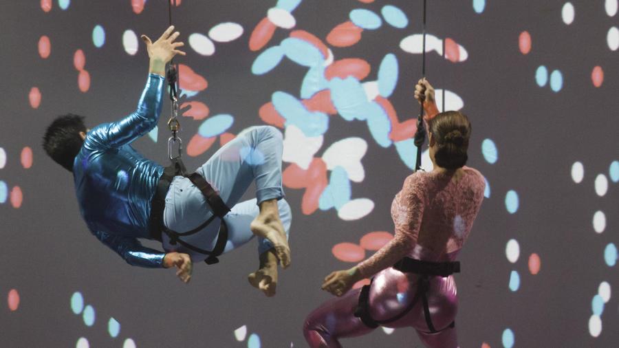 Lis Vega en la danza vertical en Sí Se Puede