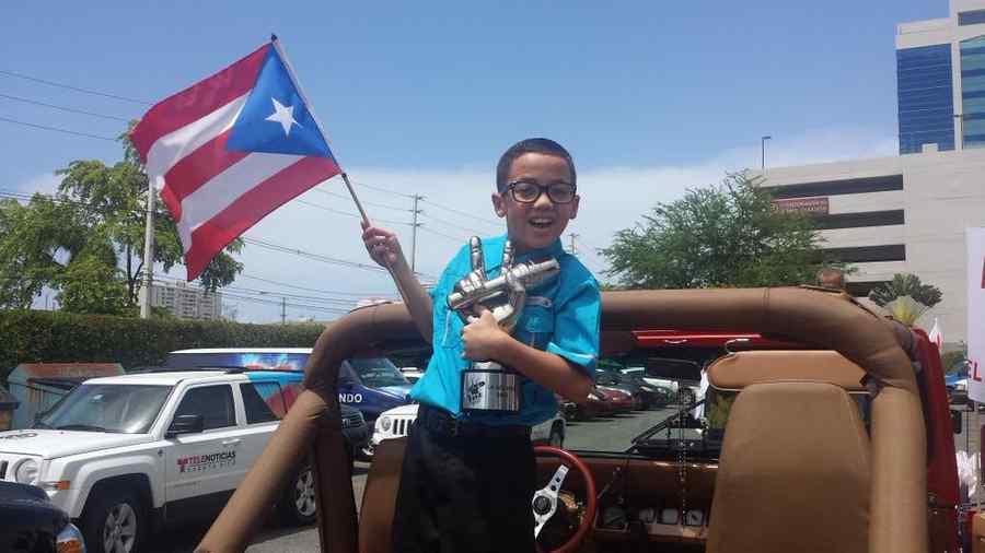 Jonael santiago, caravana, recibimiento, puerto rico