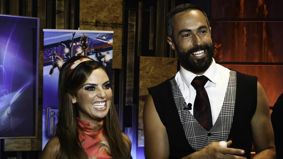 Mariana Torres y Carlos Arenas en entrevista en el show 4 de Sí Se Puede