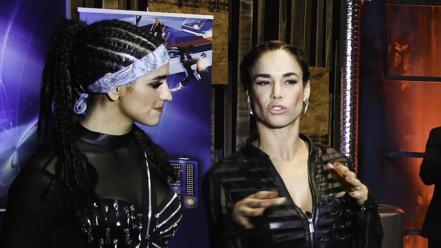 Lis Vega y Bárbara de Regil en entrevista después del show 4 de Sí Se Puede