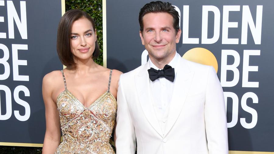 Irina Shayk y Bradley Cooper en los 76th Annual Golden Globe Awards en enero de 2019
