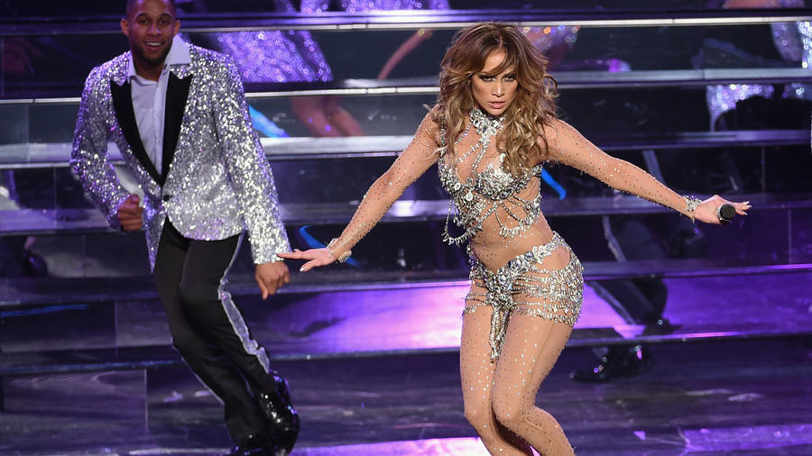 Jennifer Lopez en su show de Las Vegas de 2016