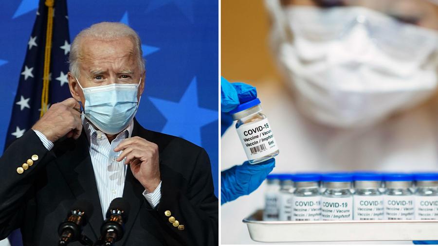 Joe Biden y vacuna COVID-19