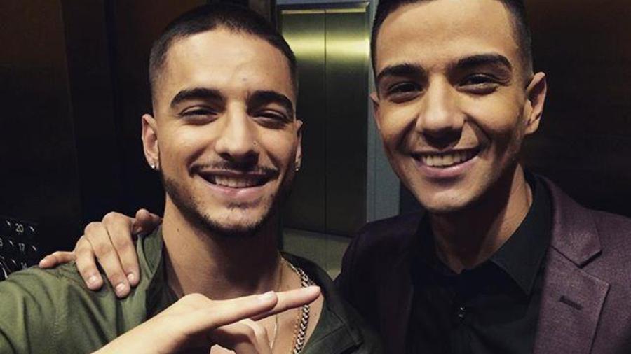 Maluma y Luis Coronel en los Latin American Music Awards 2015