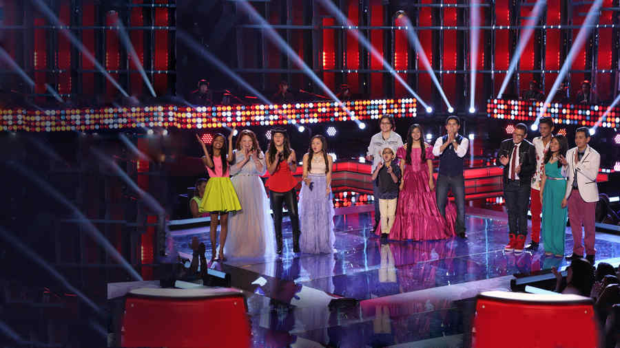 Top 12, finalistas, la voz kids, segunda gala
