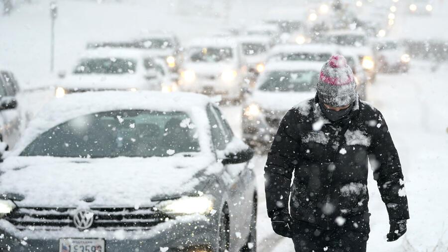 Nieve en Maryland.