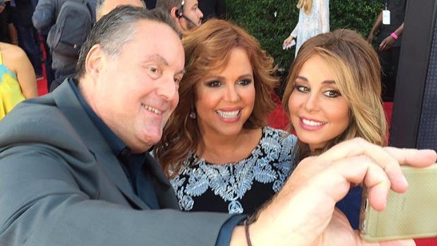 Myrka Dellanos, Maria Celeste y Andres Cantor en los Latin American Music Awards 2015