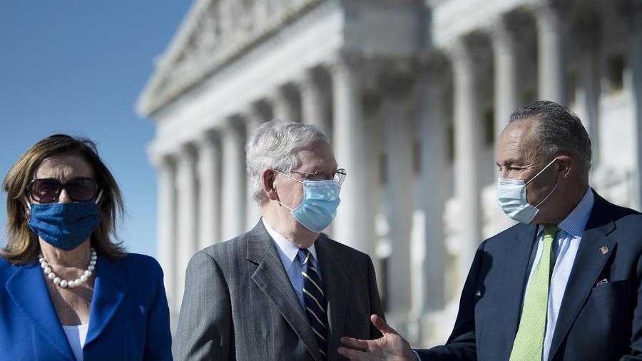 Líderes demócratas y republicanos en Washington